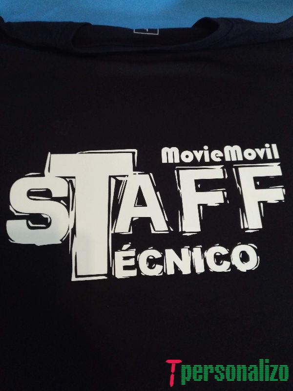 Camiseta detras MovieMovil la empresa del cine