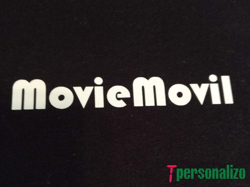 Camiseta delante MovieMovil la empresa del cine