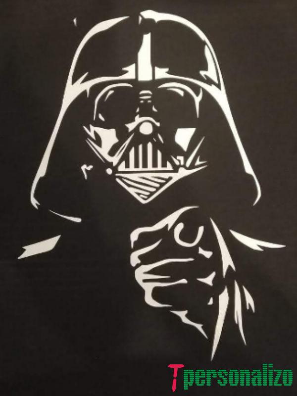 Camiseta personalizada con vinilo blanco delante