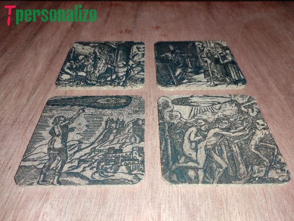 Pack 4 posavasos vintage